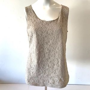 Dana Buchman Lace Sleeveless Cami Shell Top